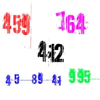 Кисти - цифры