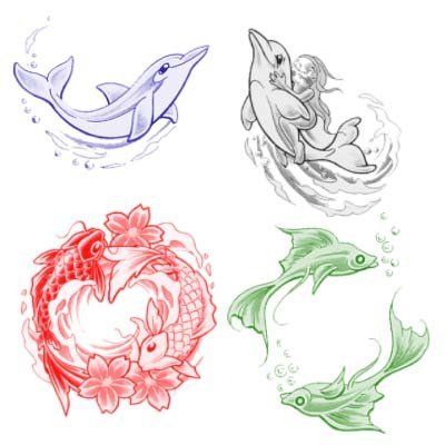 Кисти - Дельфины