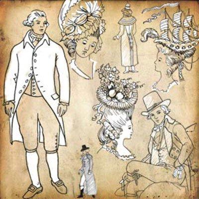 Кисть для фотошопа - Мода XVII века