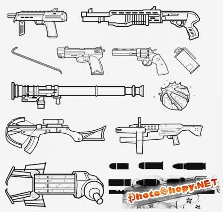 Фигуры для фотошопа - Оружие из Half-Life 2