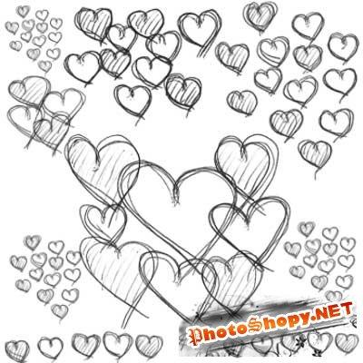 Кисти для фотошоп сердечки
