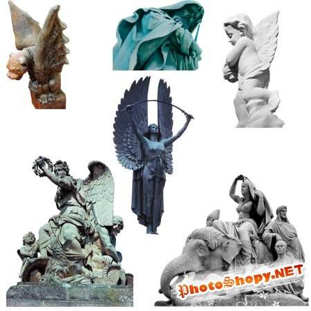PSD Исходник для фотошоп - Скульптуры