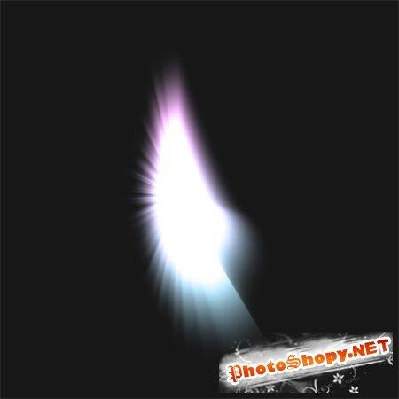 PSD Исходник для фотошоп - Ангельское крылышко