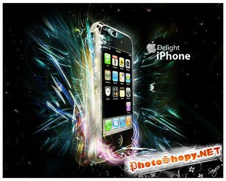 PSD Исходник для фотошоп - Iphone