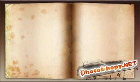 PSD Исходник для фотошоп - Книга