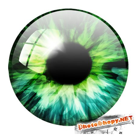 PSD Исходник для фотошоп - Глаз