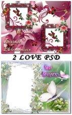 PSD Исходник для фотошоп - Love frames