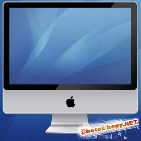 PSD Исходник для фотошоп - iMac