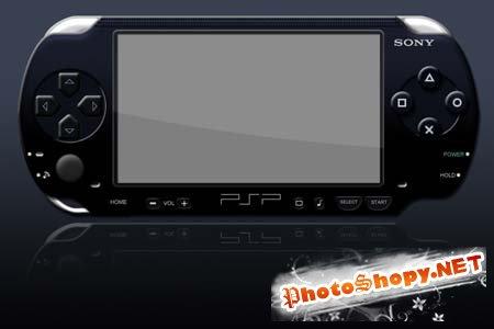 PSD Исходник для фотошоп - Sony PSP