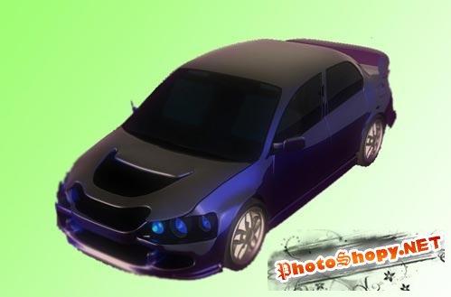 3D модели - Модель автомобиля Mitsubishi Lancer
