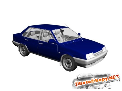 3D модели - Модель автомобиля ВАЗ - 21099
