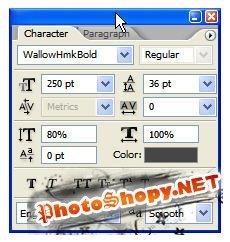 Эффект текста в фотошопе - Текст из воды