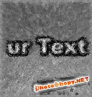 Уроки photoshop - Текст под слоем льда