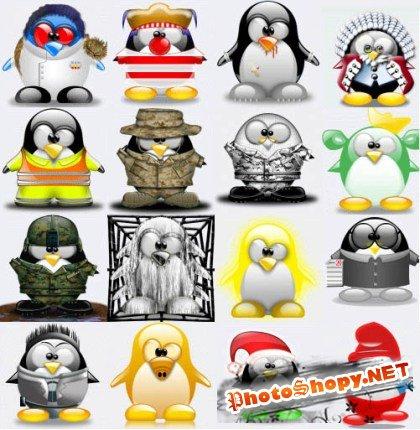 Иконки - Пингвины