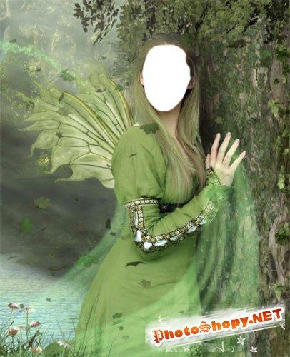 Шаблон женский для фото сказочная
