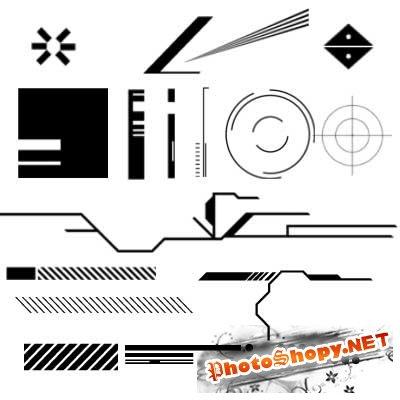 Кисти для фотошопа - Техно