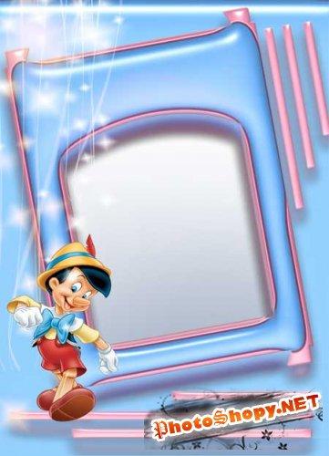 Рамка для фото - Пинокио