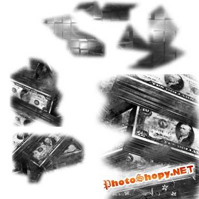 Кисти для фотошопа - Деньги Грандж