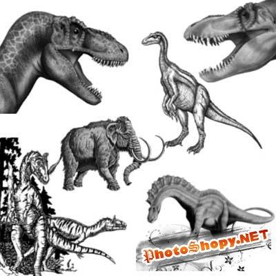 Кисти для фотошопа - Динозавры