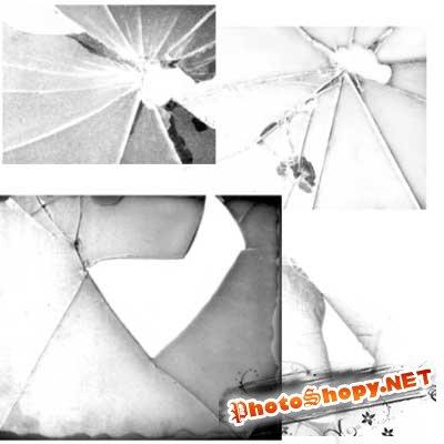 Кисти для фотошопа - Разбитое стекло