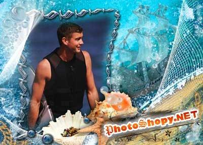 Рамка для фотошоп – Морские глубины