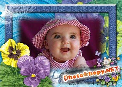 Рамка для фотошоп – Мой цветочек