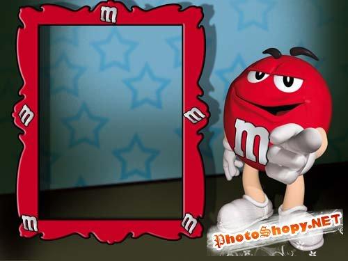 Рамка для фото - M&M's RED