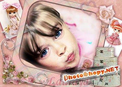 Рамка для фотошоп - Маленькая модница