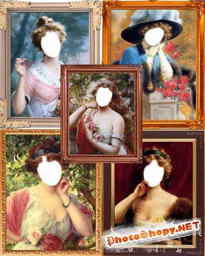 Шаблоны для фото - Старая галерея