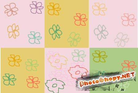 Текстуры для фотошопа - Цветочки детей