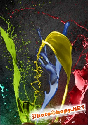Создаём танец красок в фотошопе