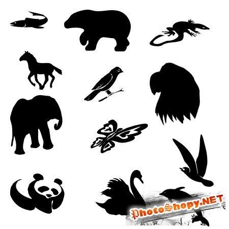 Фигуры для фотошопа фауна