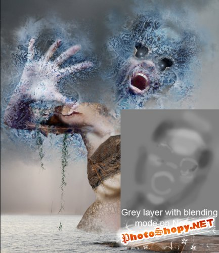Как создать ледяную фото манипуляцию в фотошопе