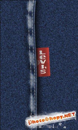 Реалистичная джинсовая текстура