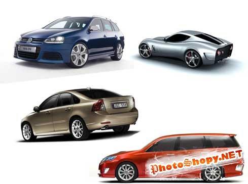 Клипарты - Автомобили на белом фоне
