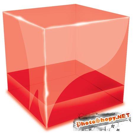 PSD исходник - Кубик