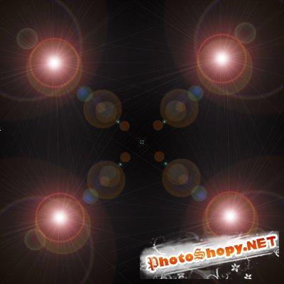 Световой шар в фотошопе