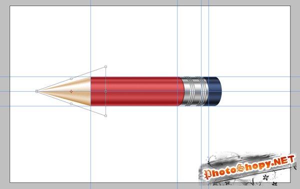 Создание великолепной сияющей иконки карандаша
