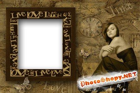 Рамка для фото - Время любви