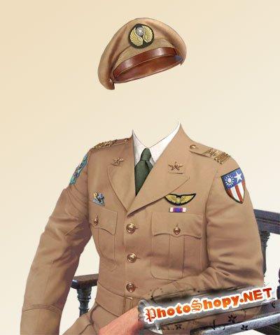 Шаблон для фото - Капитан ВМФ США