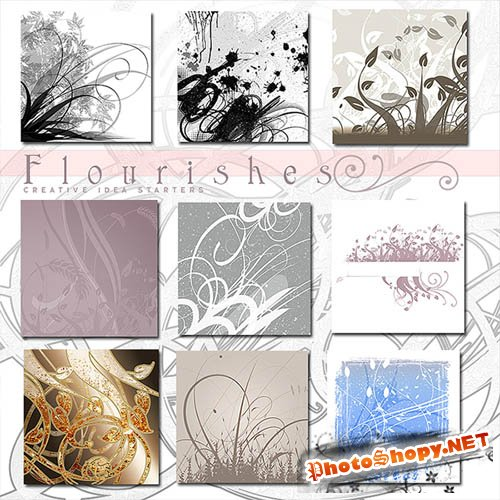 Rons Flourishes - Photoshop Brushes Pack