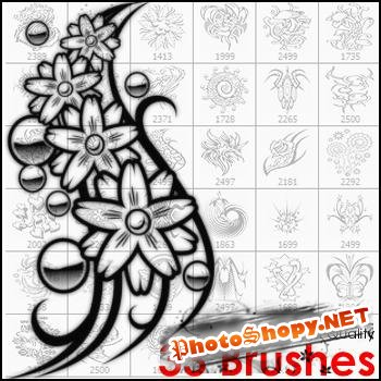 Tattoo Brushes for Photoshop