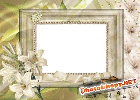 Рамка для фотошоп – Ретро свадебная №2