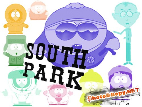 Кисти для Adobe Photoshop - South Park