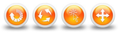 3d-glossy-orange-orb-icon-arrows