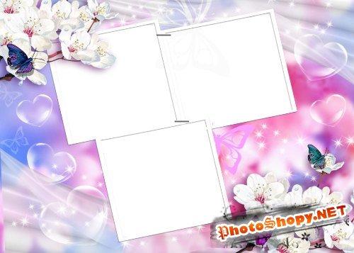 Рамка для фотошоп – Весна, любовь