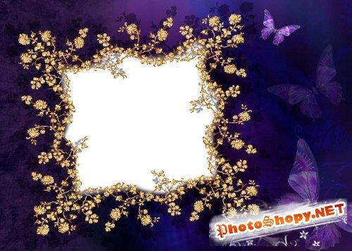 Рамка для фотошоп – Ночь