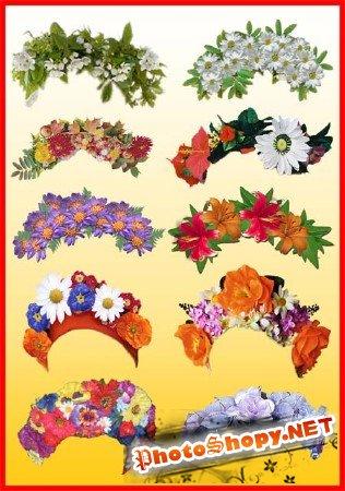 Клипарт - Цветочные венки