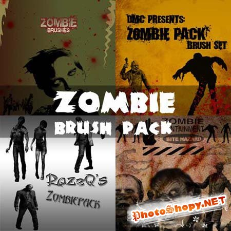 Zombie Photoshop Brushes Pack