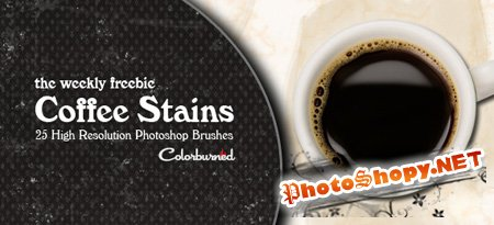 Coffee Stains HQ Photoshop Brushes